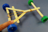Example of rubber band car